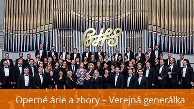 Koncert operných árií a zborov – Verejná generálka